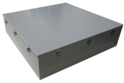 Latched screw cover junction box, with all stainless steel latches