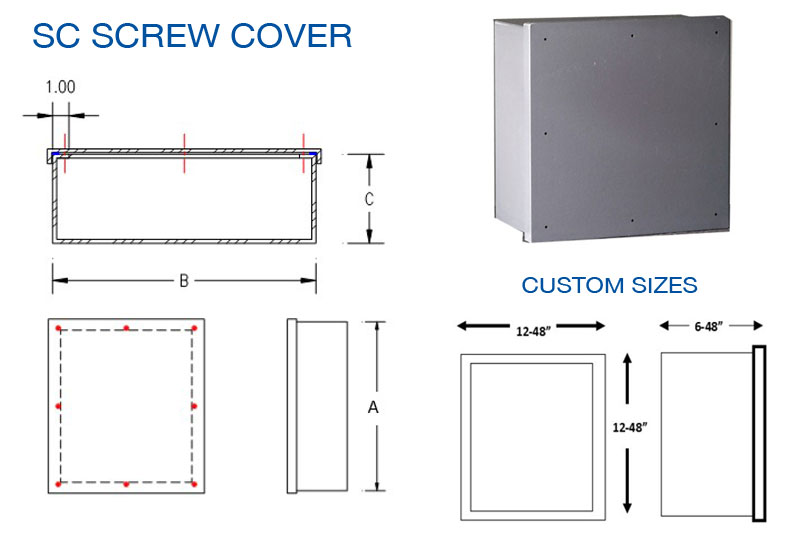 SC PVC NEMA 4X SCREW COVER JUNCTION BOXES